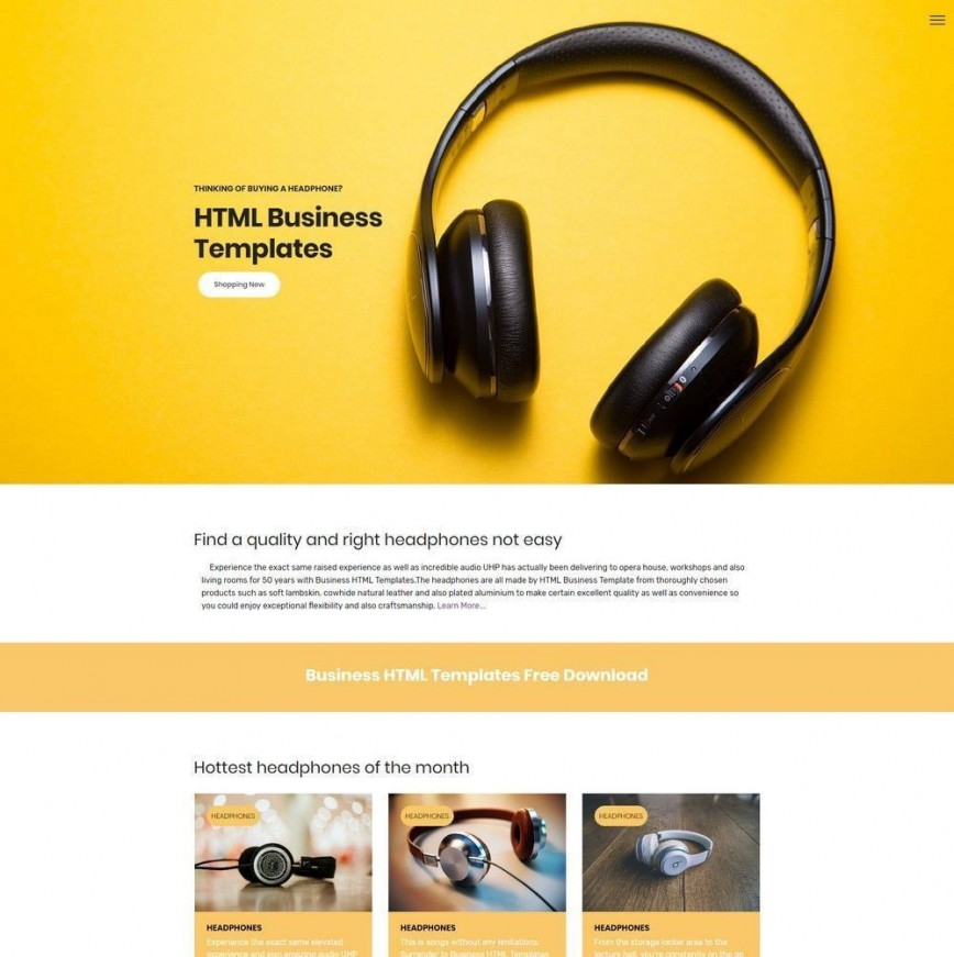 000 Simple Free Html Template Download With Slider Highest Quality  Website And Cs Responsive