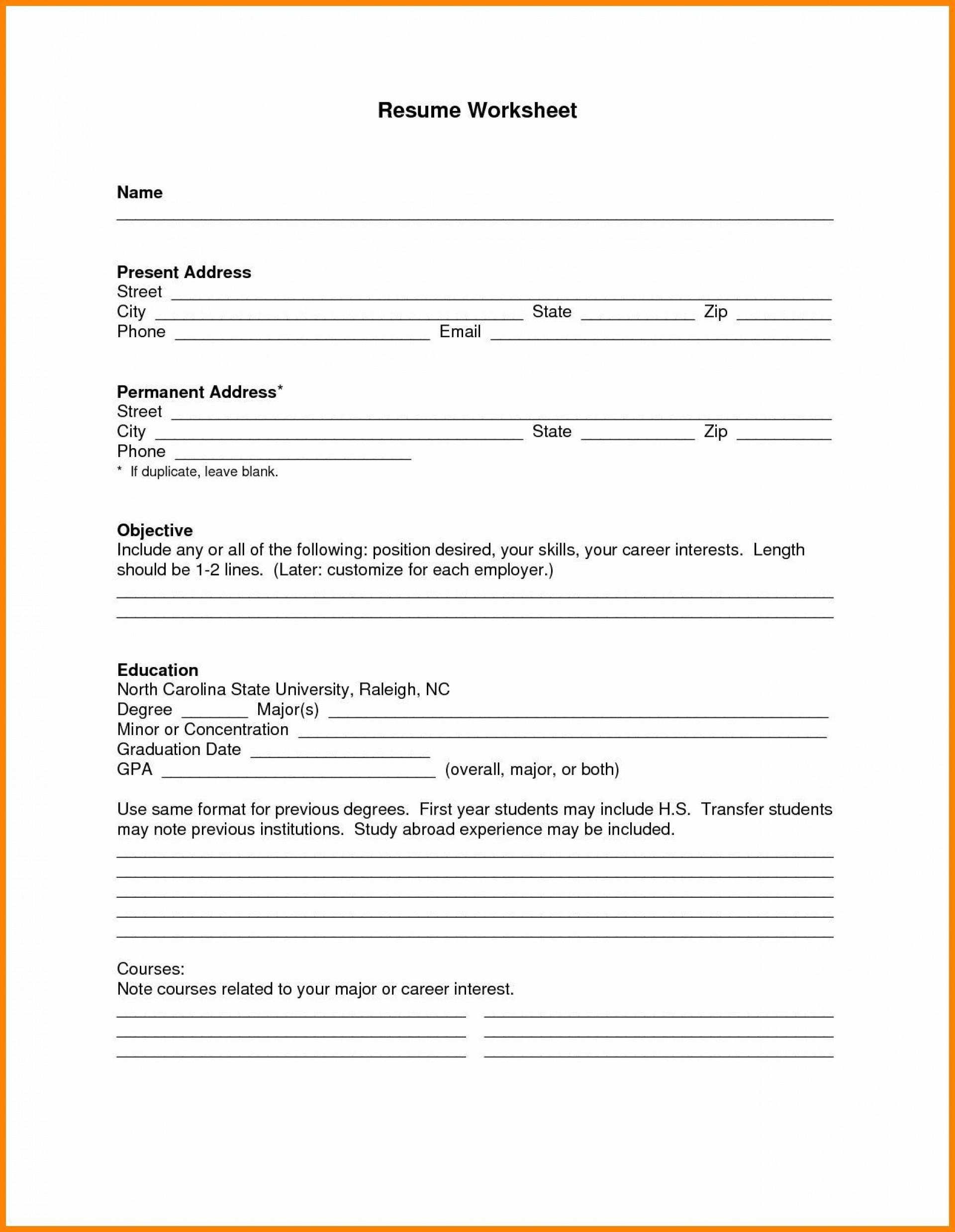 000 Simple Free Printable Resume Template Pdf Photo 1920