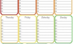 000 Simple Free Printable Weekly Cleaning Schedule Template Example  Office