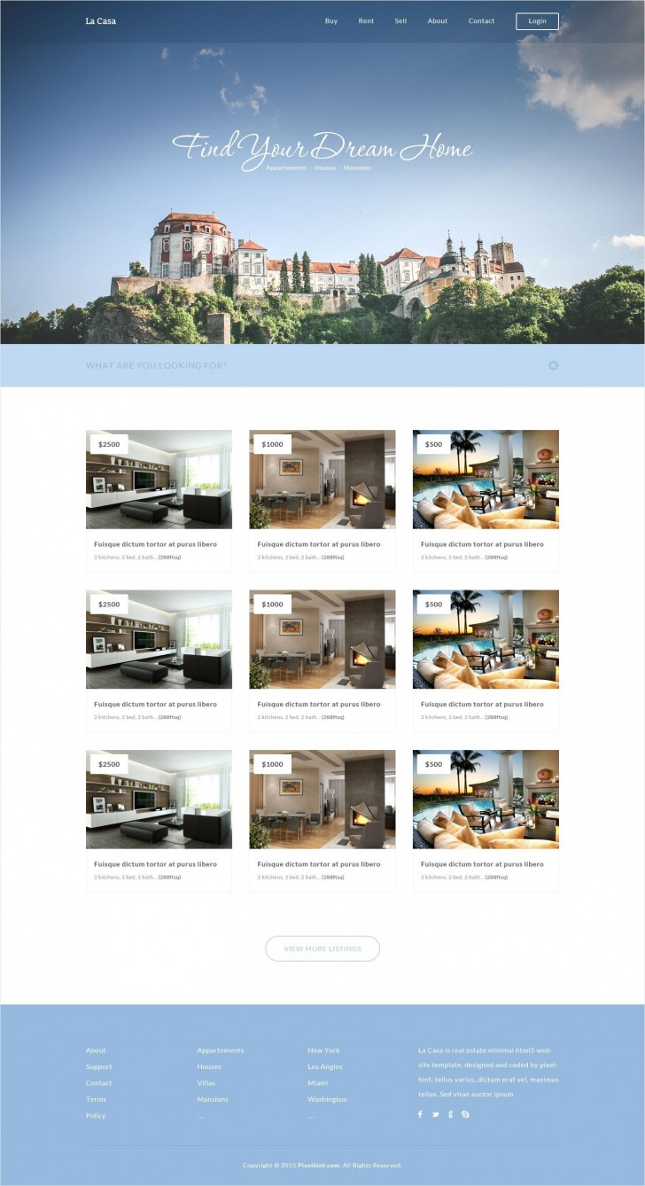 000 Simple Free Real Estate Template Idea  Website Download Bootstrap 4728