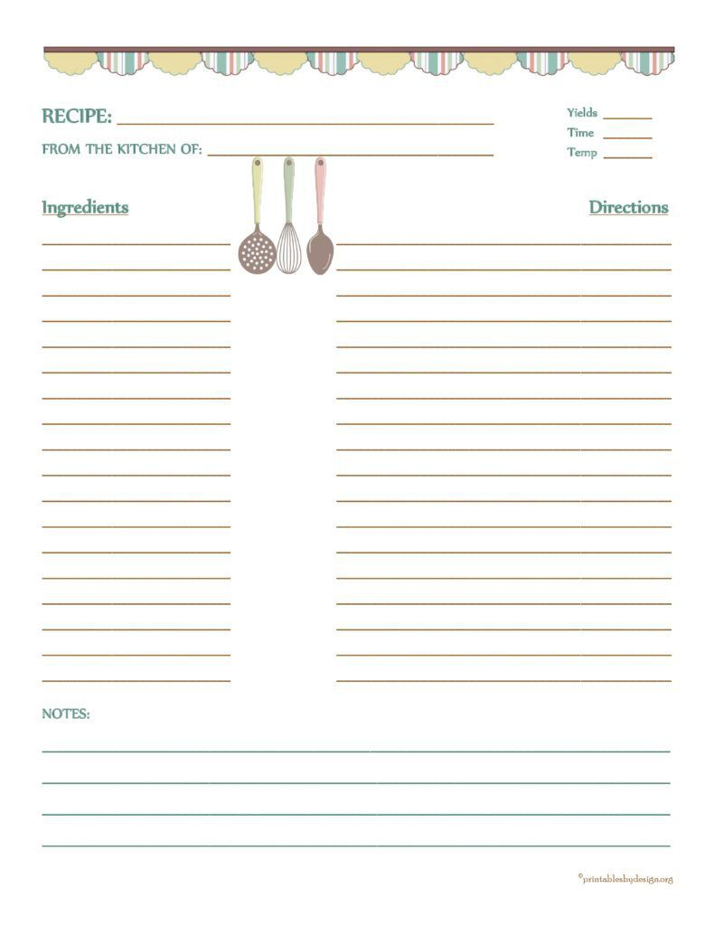 000 Simple Free Recipe Template For Word Image  Editable Page BookFull