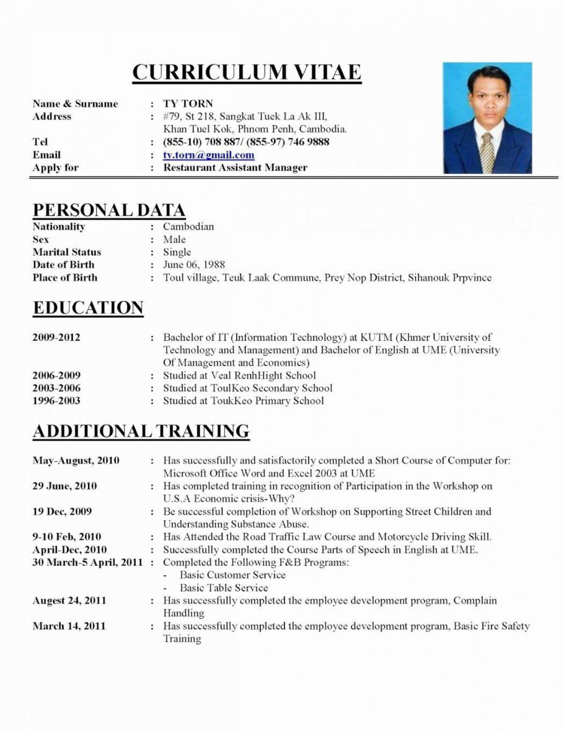 000 Simple Free Resume Template 2018 Printable Idea 1920