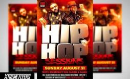 000 Simple Hip Hop Flyer Template Image  Templates Hip-hop Party Free Download
