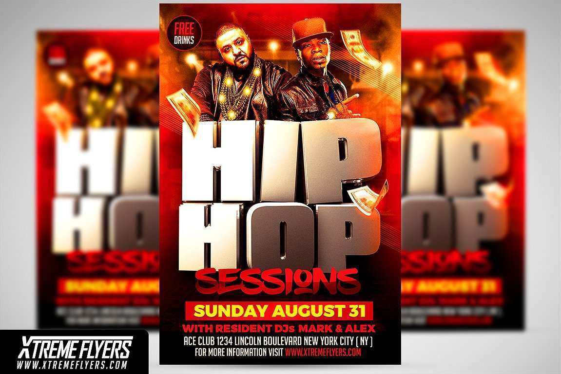 000 Simple Hip Hop Flyer Template Image  Templates Hip-hop Party Free DownloadFull