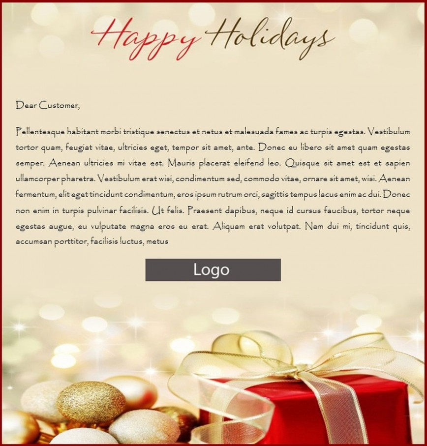 000 Simple Holiday E Mail Template Inspiration  Happy Email For Client Christma