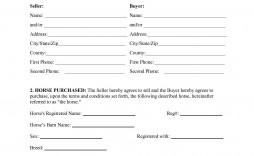 000 Simple Horse Bill Of Sale Template Design  Australia Agreement
