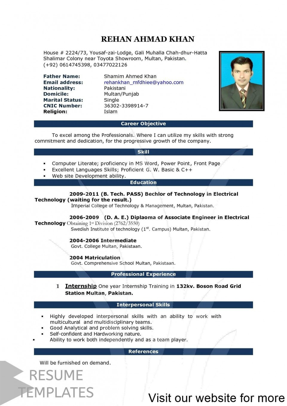 000 Simple How To Create A Resume Template In Word 2020 Inspiration 960