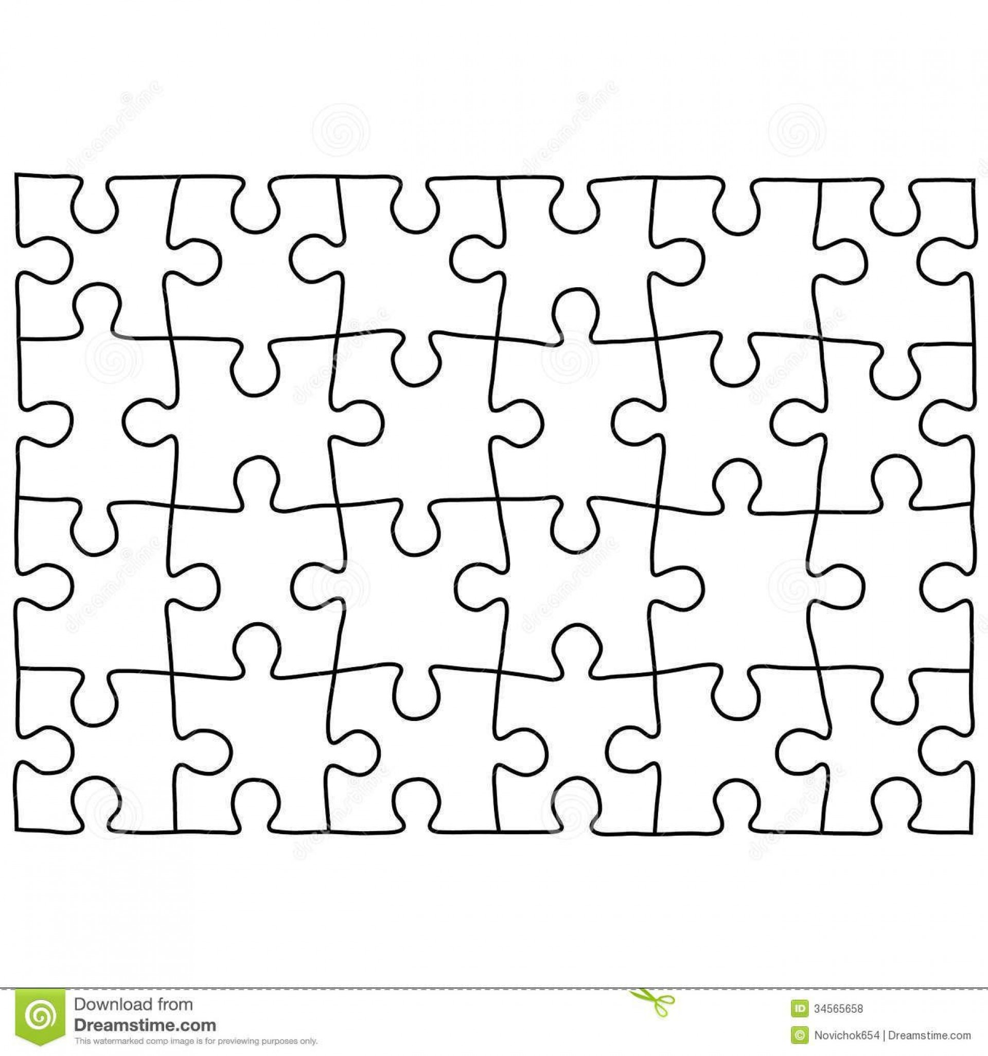000 Simple Jig Saw Puzzle Template High Def  Printable Blank Jigsaw Vector Free Png1920