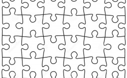 000 Simple Jig Saw Puzzle Template High Def  Printable Blank Jigsaw Vector Free Png