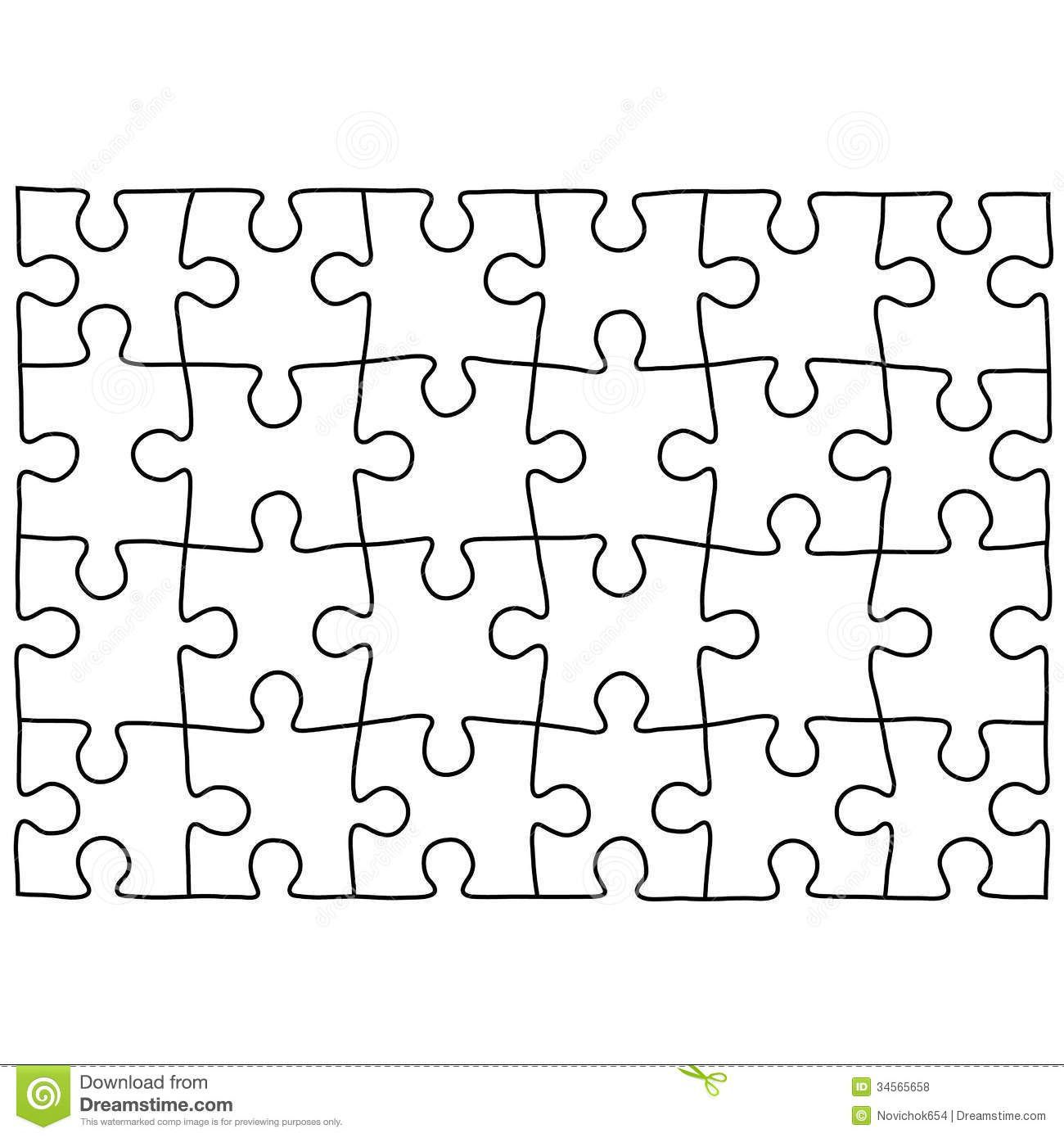 000 Simple Jig Saw Puzzle Template High Def  Printable Blank Jigsaw Vector Free PngFull