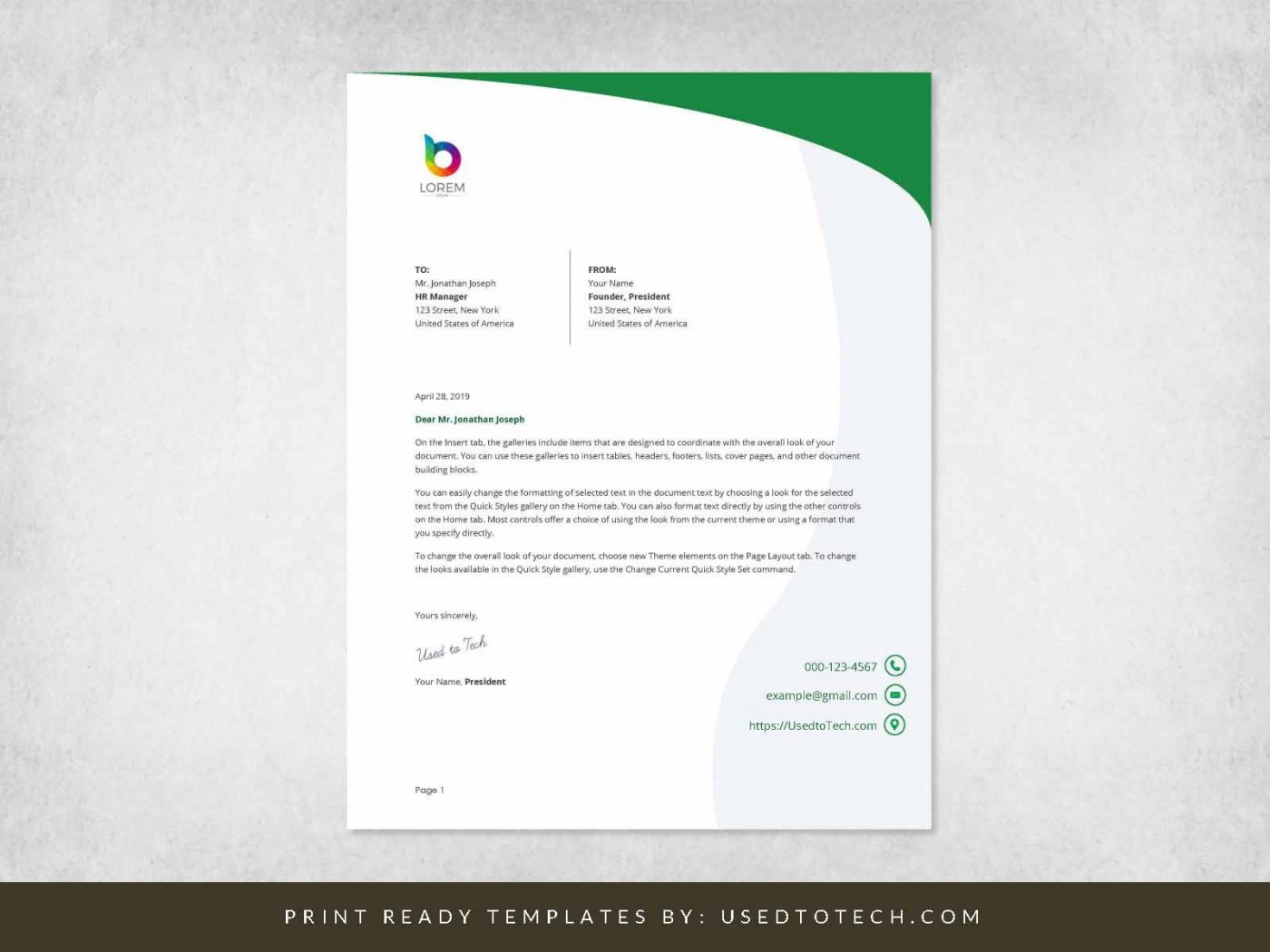 000 Simple Letterhead Template Free Download Word Highest Clarity  Microsoft Format In Personal Red1400