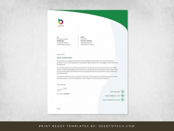 000 Simple Letterhead Template Free Download Word Highest Clarity  Microsoft Format In Personal Red360