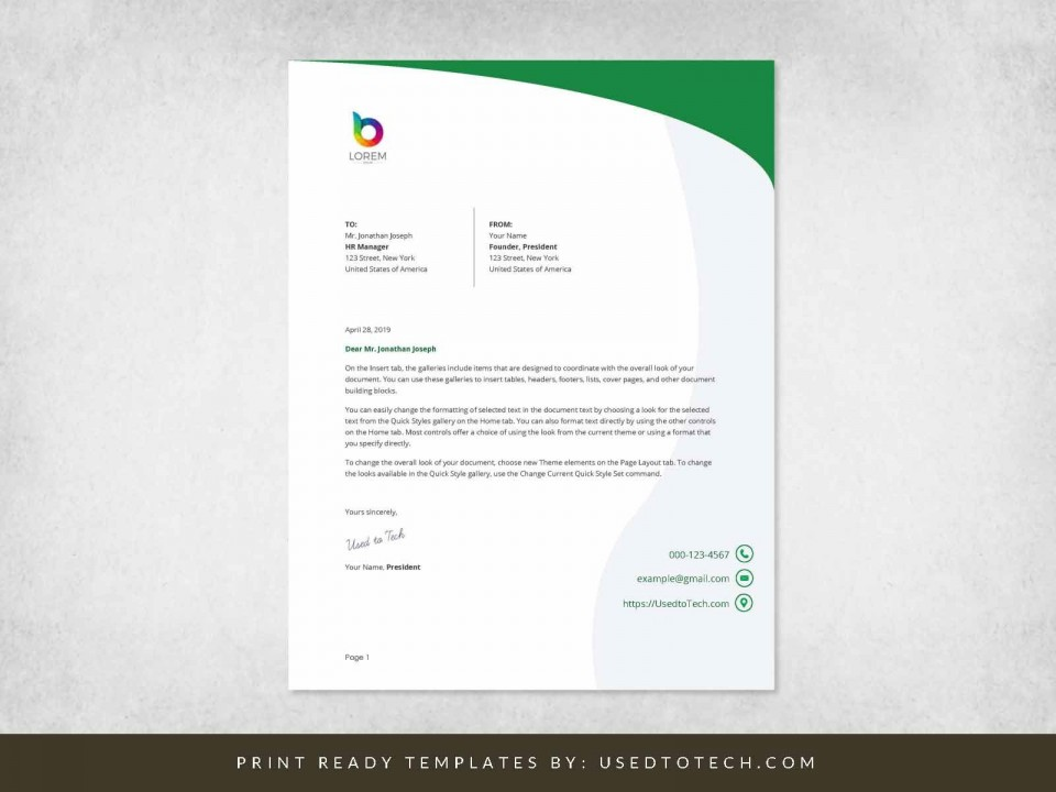 000 Simple Letterhead Template Free Download Word Highest Clarity  Microsoft Format In Personal Red960