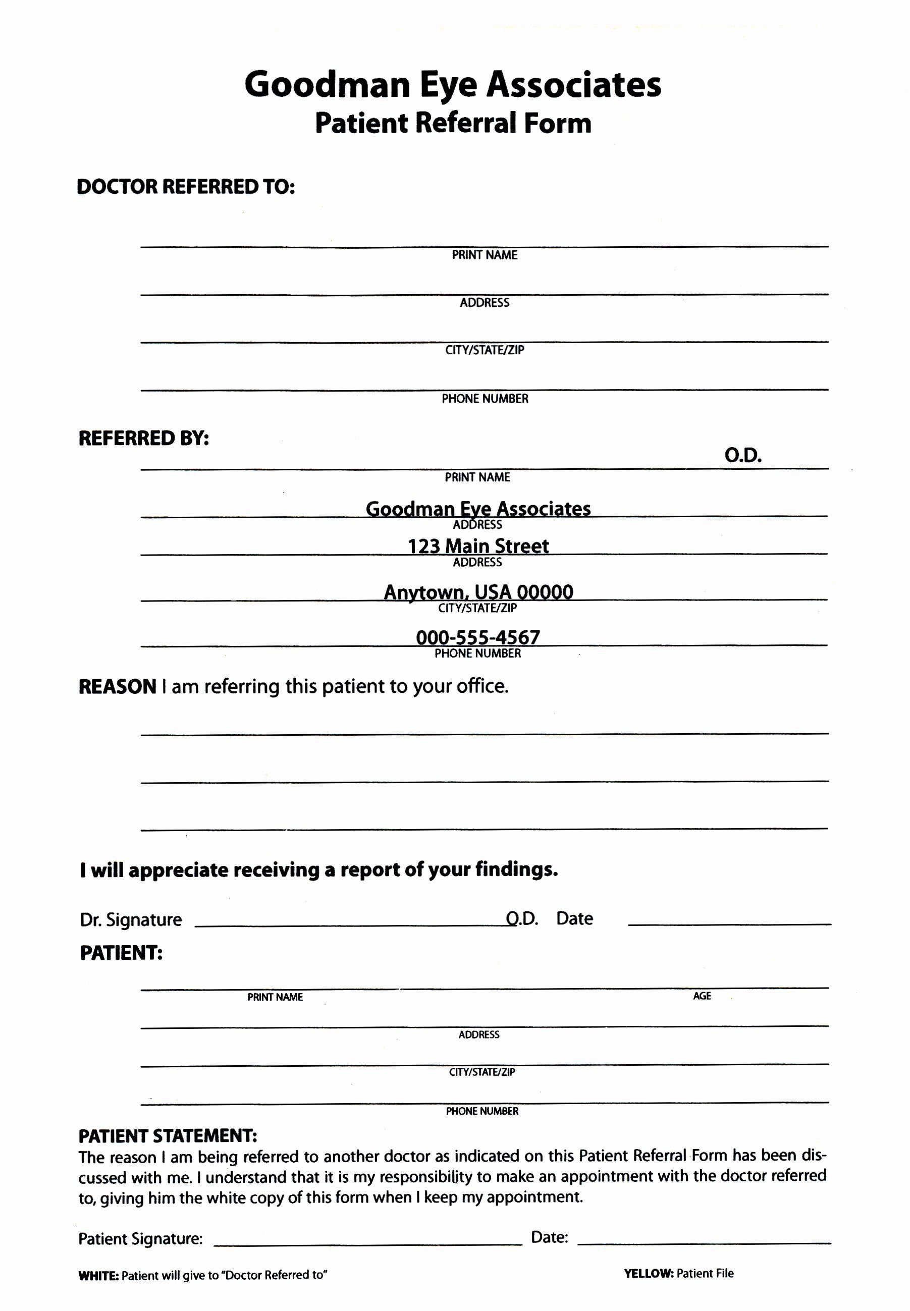 000 Simple Medical Referral Form Template Sample  Dental Patient Doctor Free PhysicianFull
