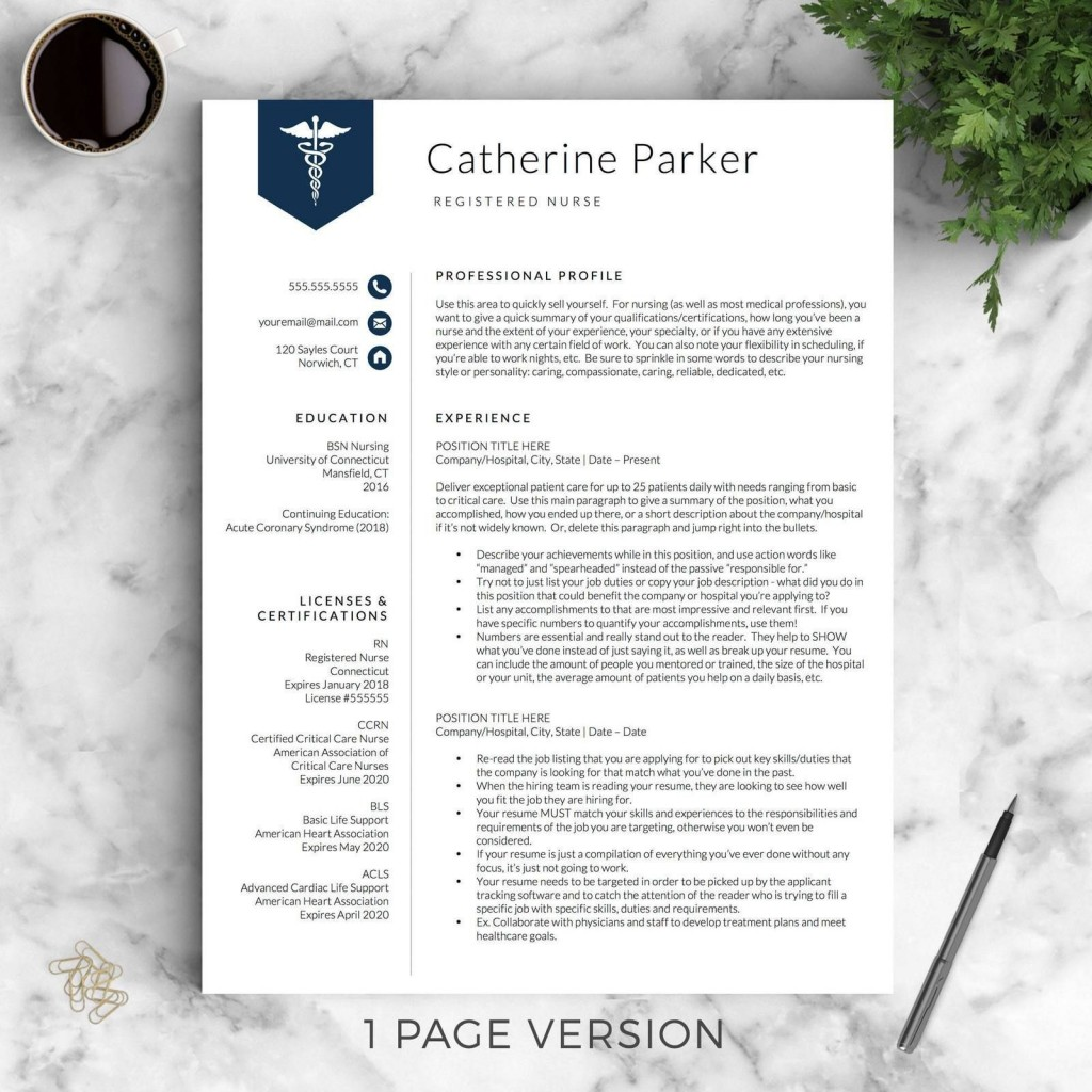 000 Simple Nurse Resume Template Free High Resolution  Graduate RnLarge