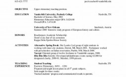 000 Simple Resume Sample For Teaching Job In India  School Principal Position