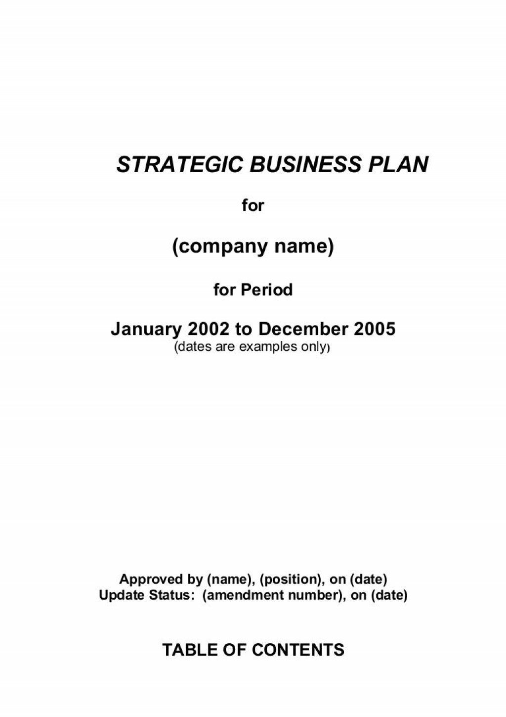 000 Simple Strategic Busines Plan Template Highest Quality  Templates Free ExampleLarge