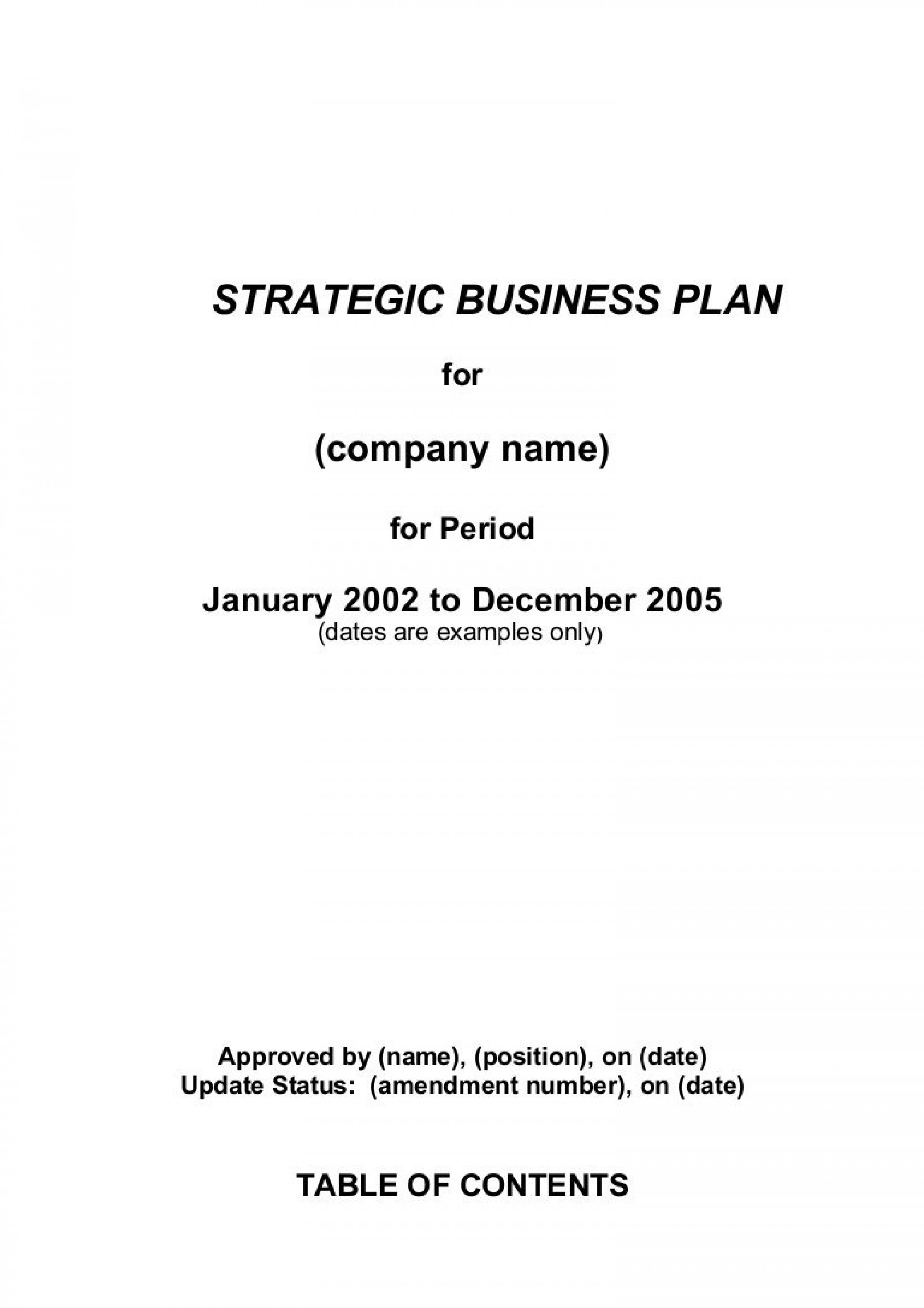 000 Simple Strategic Busines Plan Template Highest Quality  Templates Free Example1920