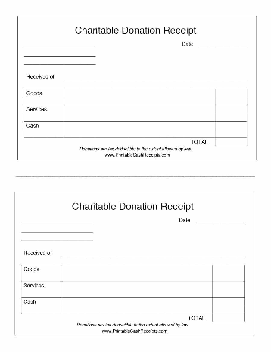 000 Simple Tax Deductible Donation Receipt Printable Example Full