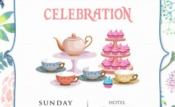 000 Simple Tea Party Invitation Template Sample  Templates High Free Download Bridal Shower