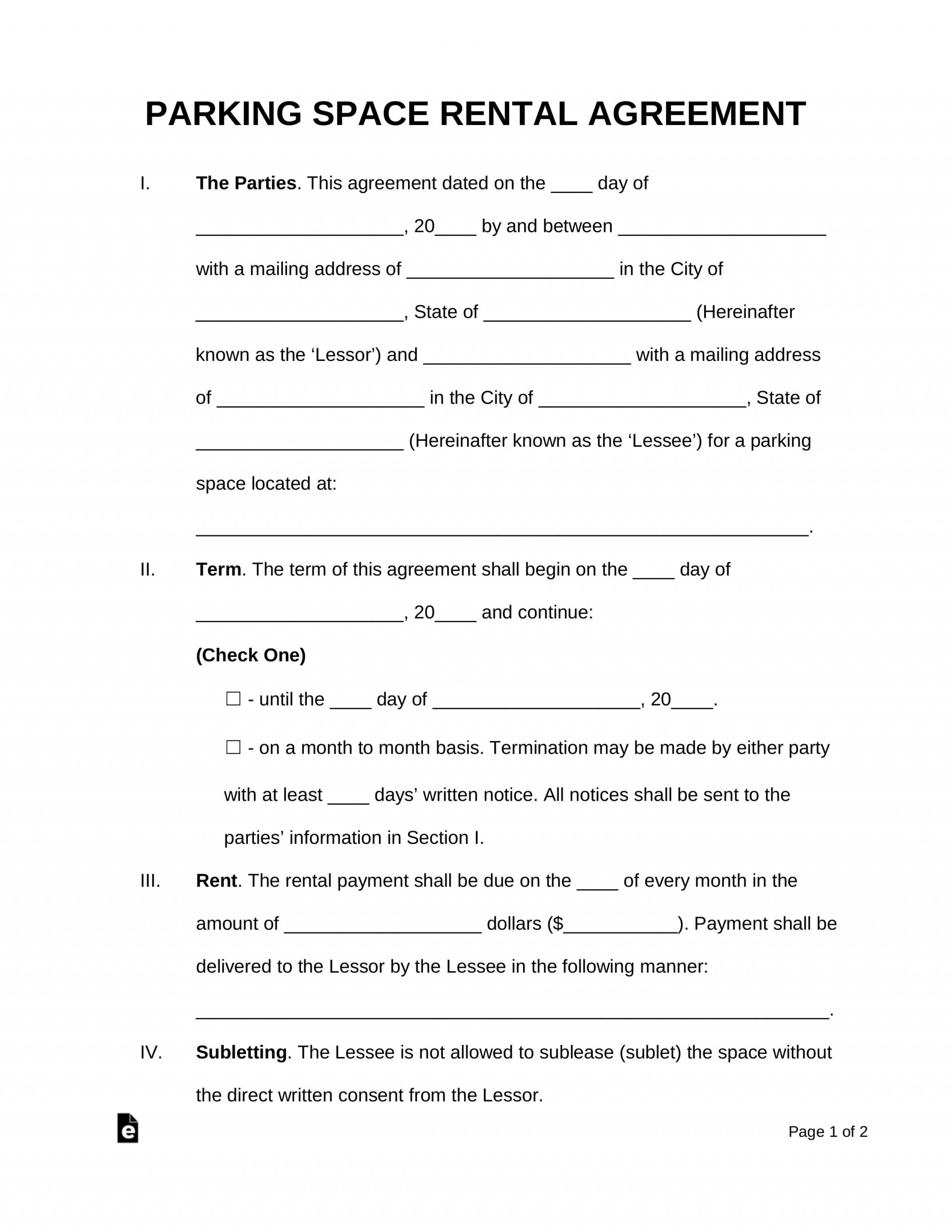 000 Simple Template Vehicle Rental Agreement High Resolution  Motor Word1920