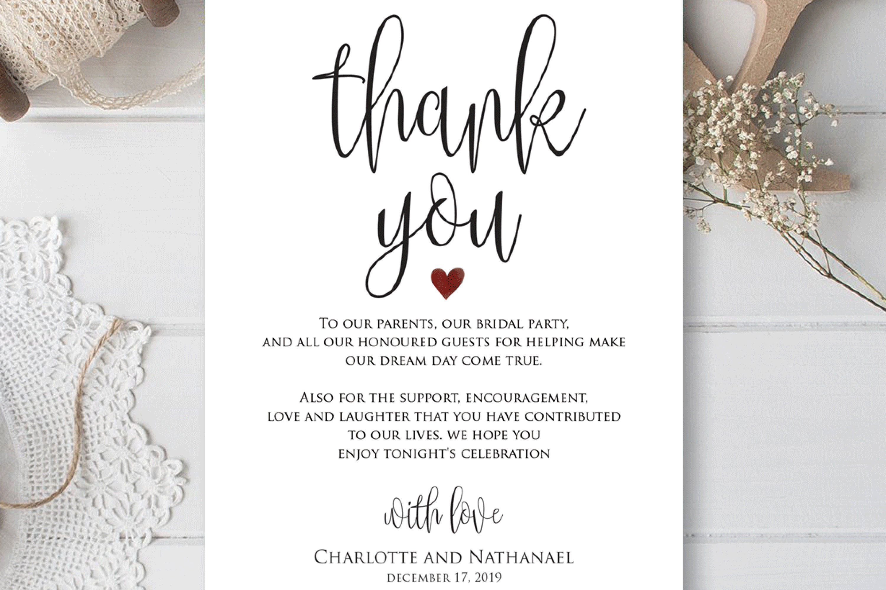 000 Simple Wedding Thank You Card Templates. Example  Template Etsy Word PublisherFull