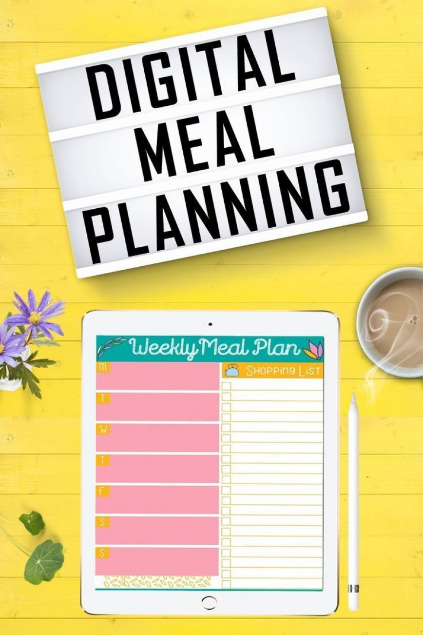 000 Simple Weekly Meal Plan Template App Highest Quality