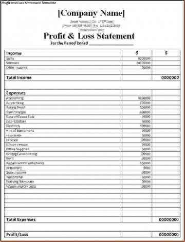 000 Singular Basic Profit And Los Template Highest Clarity  Free Simple Form Statement Excel For Self Employed360