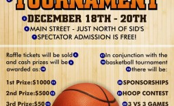 000 Singular Basketball Flyer Template Free Concept  Camp Brochure 3 On Tournament