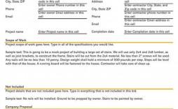 000 Singular Construction Job Proposal Template Image  Example