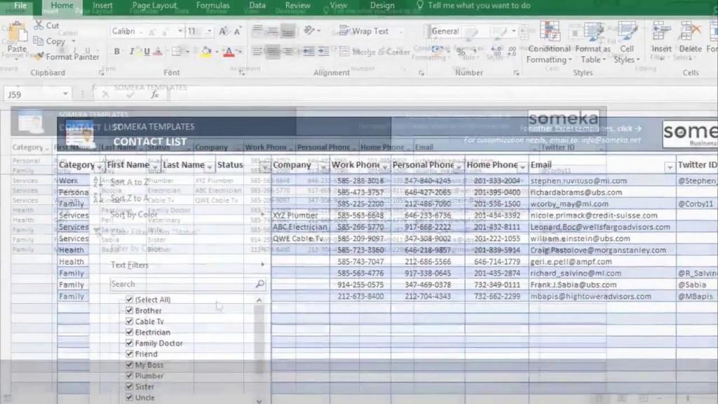 000 Singular Excel Phone List Template Software Download Design Large