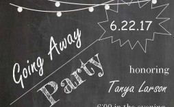 000 Singular Farewell Party Invitation Template Free Example  Email Printable Word