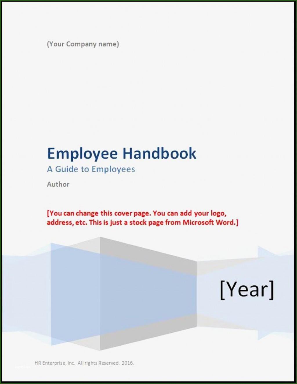 000 Singular Free Employee Handbook Template Word Highest Clarity  Sample In Training ManualLarge