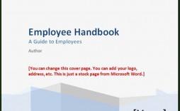 000 Singular Free Employee Handbook Template Word Highest Clarity  Sample In Training Manual
