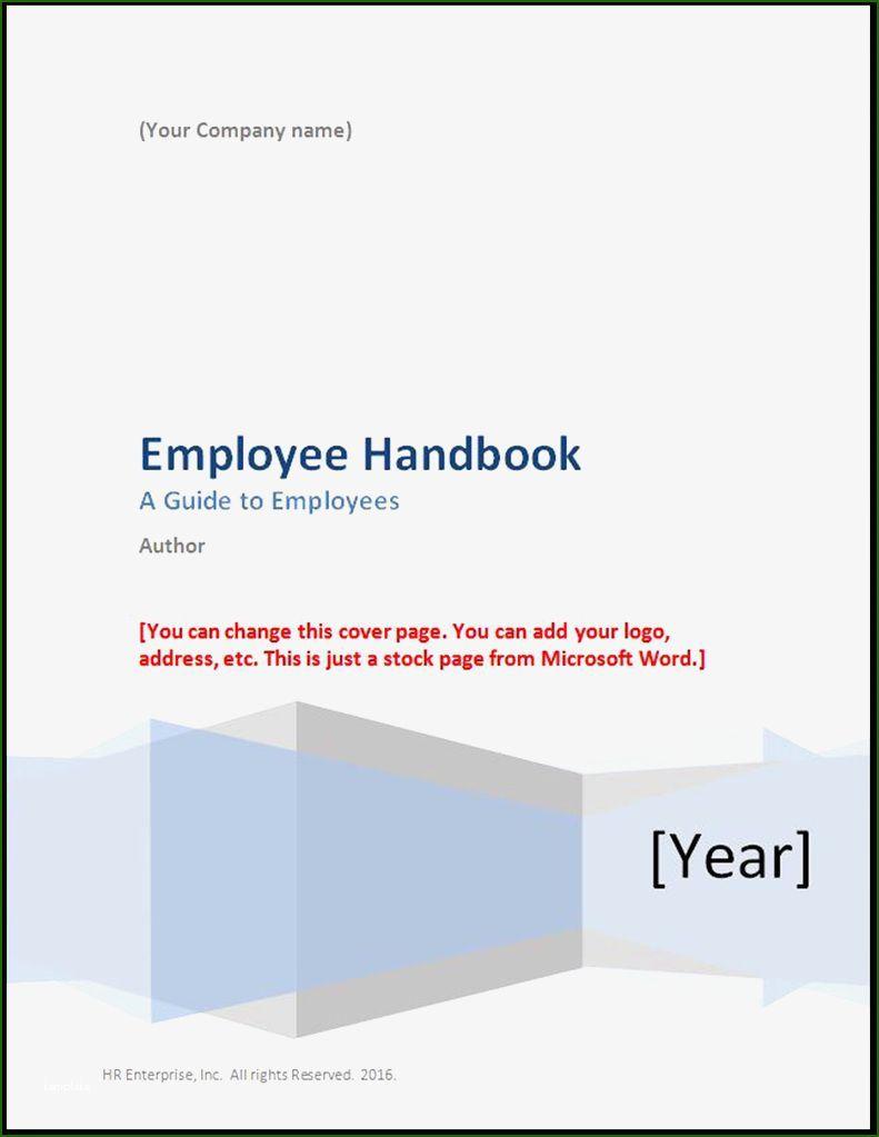 000 Singular Free Employee Handbook Template Word Highest Clarity  Sample In Training ManualFull