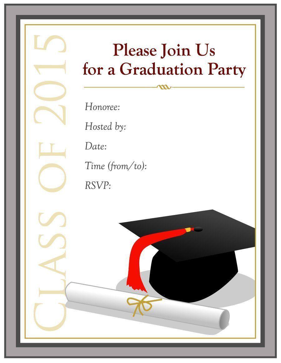 000 Singular Free Graduation Invitation Template Printable High Resolution  Kindergarten Party CardFull