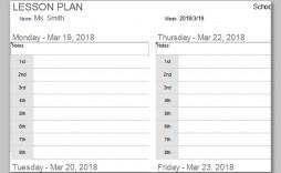 000 Singular Free Printable Lesson Plan Template Blank Image  Format