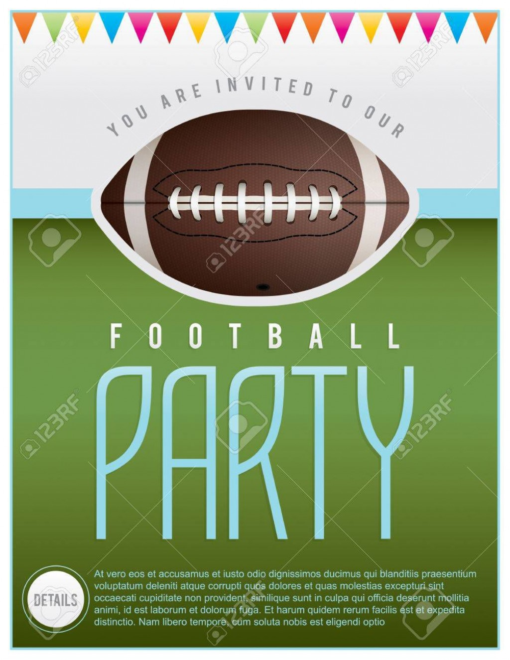 000 Singular Free Tailgate Party Flyer Template Download Concept Large