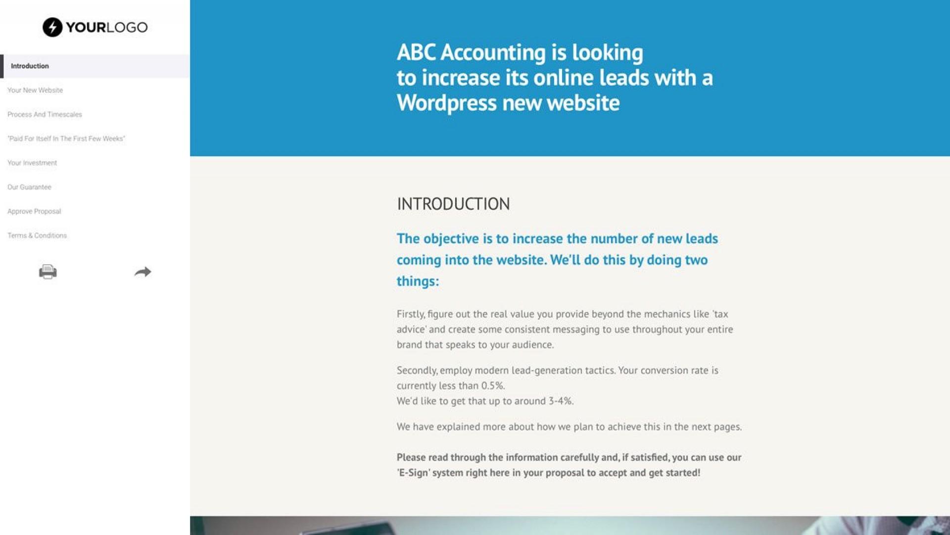 000 Singular Freelance Website Design Proposal Template Concept 1920
