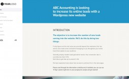 000 Singular Freelance Website Design Proposal Template Concept