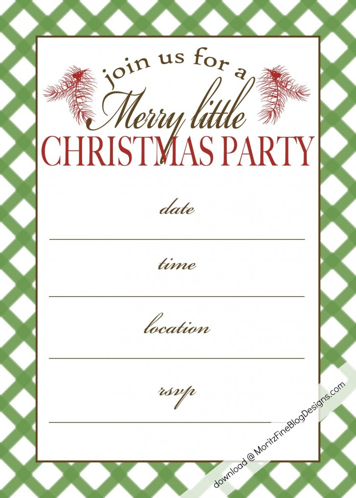 000 Singular Holiday Party Invitation Template Free High Def  Elegant Christma Download Dinner Printable Australia728
