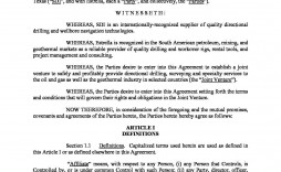 000 Singular Joint Venture Agreement Template Doc Picture  Uk
