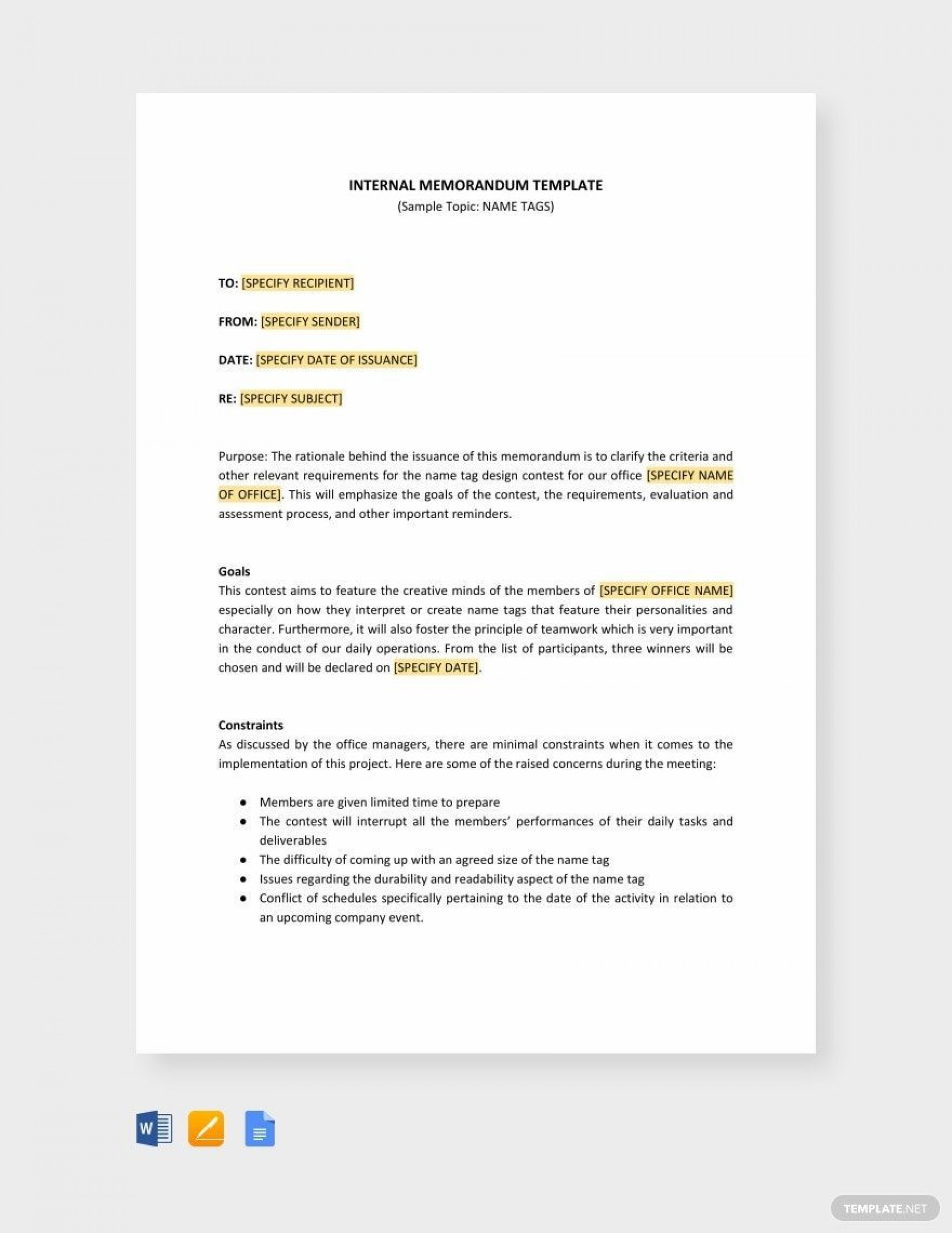 000 Singular Microsoft Word Memo Template Free Concept  Download1920