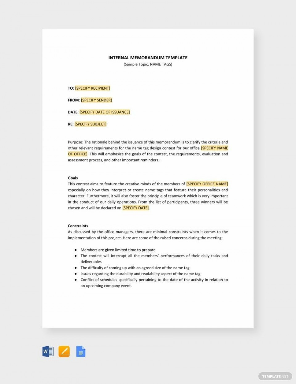 000 Singular Microsoft Word Memo Template Free Concept  Download960