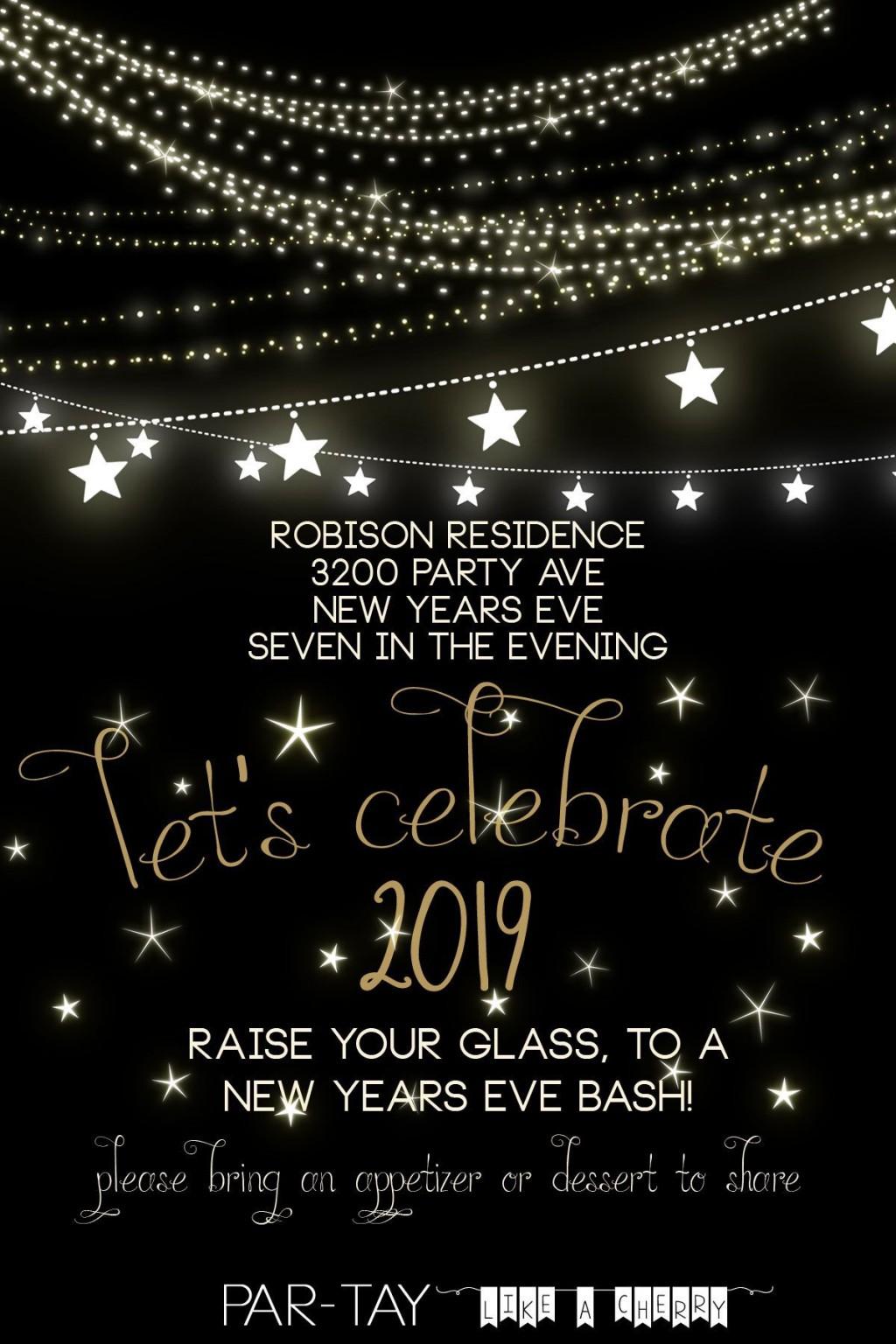 000 Singular New Year Eve Invitation Template Highest Clarity  Party Free WordLarge
