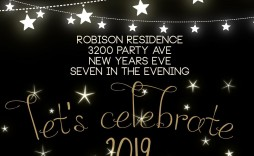000 Singular New Year Eve Invitation Template Highest Clarity  Party Free Word