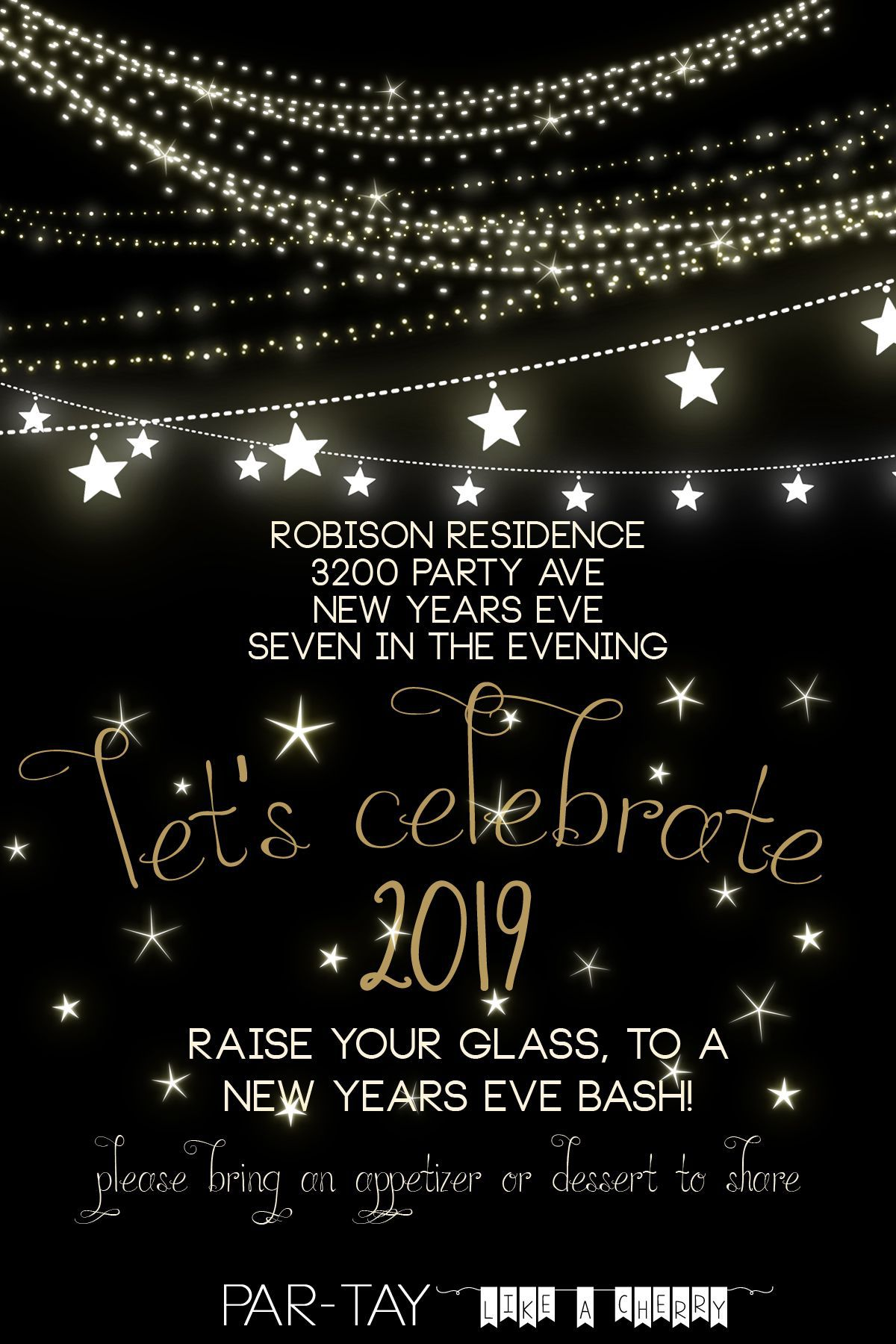 000 Singular New Year Eve Invitation Template Highest Clarity  Party Free WordFull