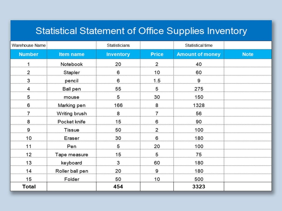 000 Singular Office Supply Inventory Template Image  List Excel Medical960