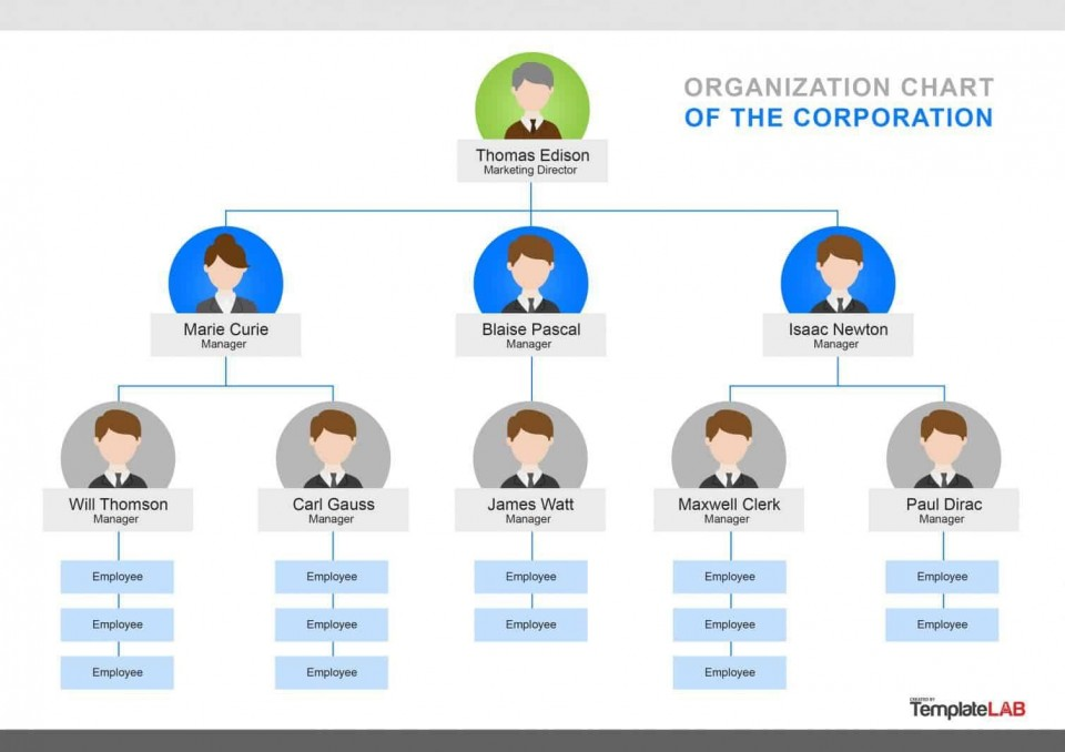 000 Singular Organizational Chart Template Word Concept  2010 2007 Free Download960