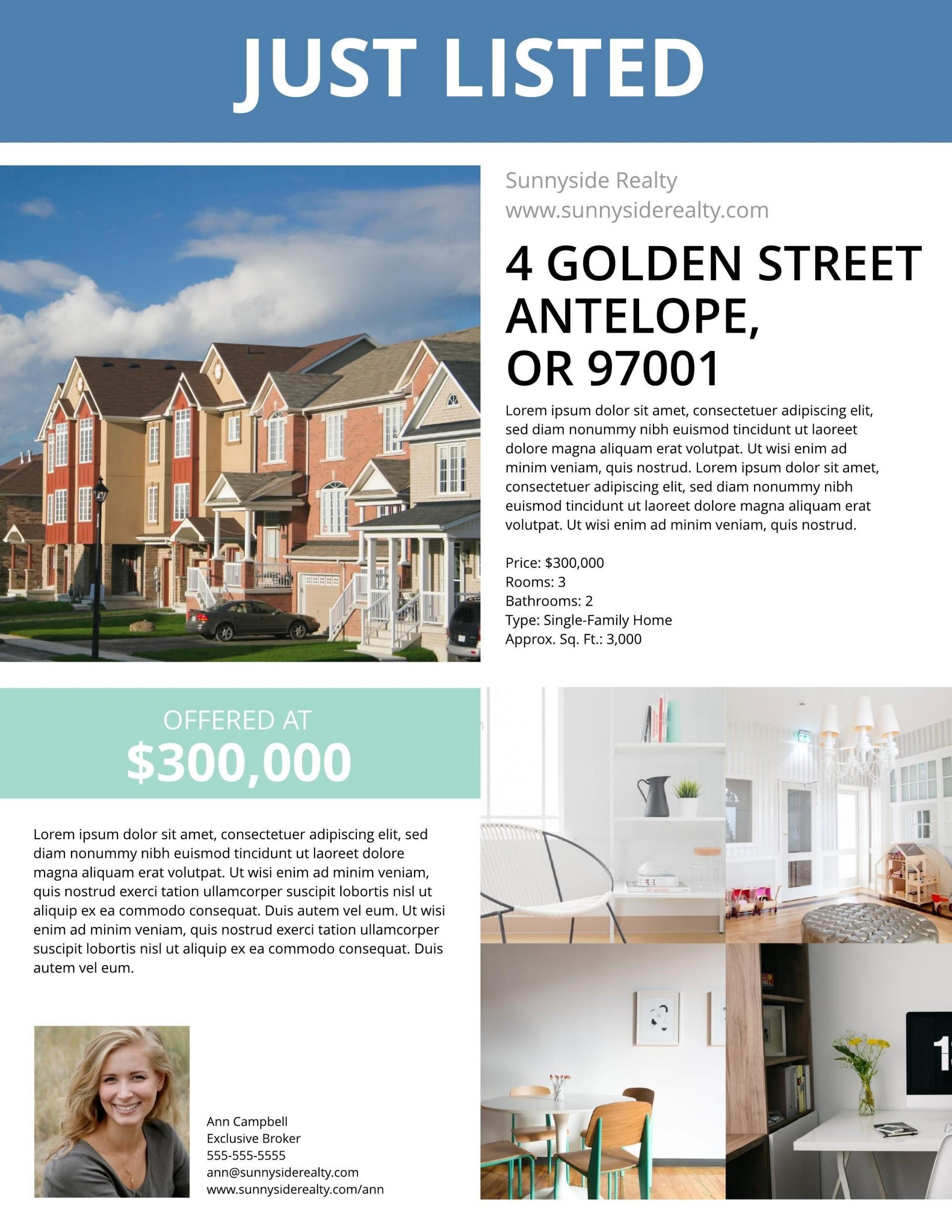 000 Singular Real Estate Marketing Flyer Template Free Highest Quality 1920